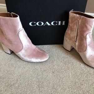 Coach Juliet blush color booty Velvet